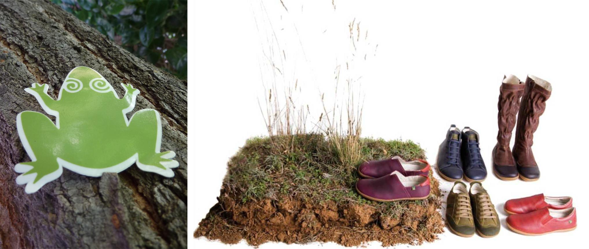 Zapatos y Logo El Naturalista