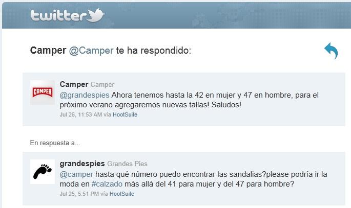 @camper responde a @grandespies