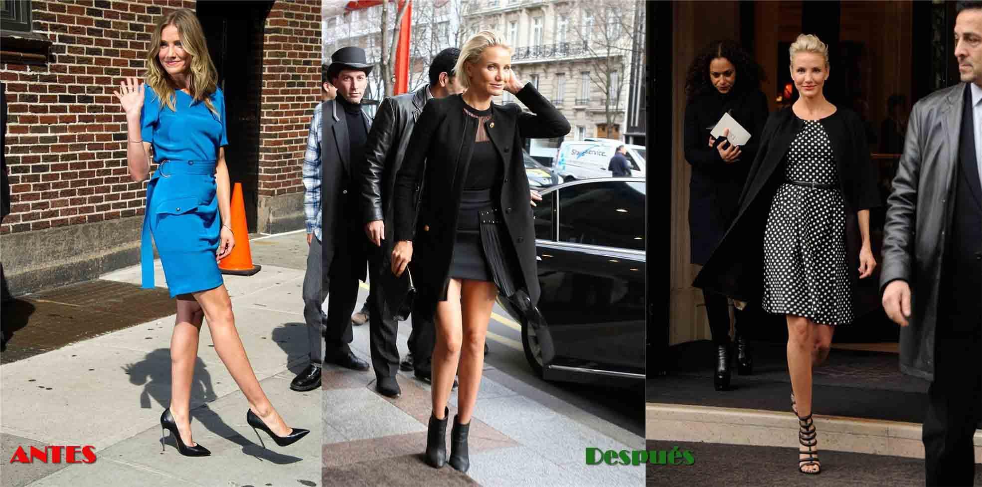 Nuevo Look Cameron Díaz en la Semana de la Moda de París