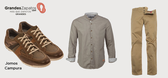 Combinación Moda Zapatos Tallas Grandes Jomos Campura